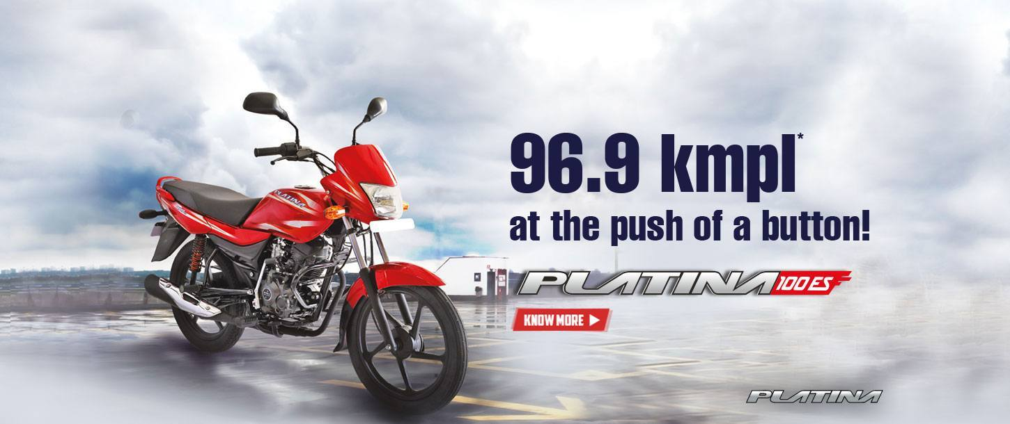 Bajaj Platina 100ES - 96.9 Kmpl at the Push of a Button