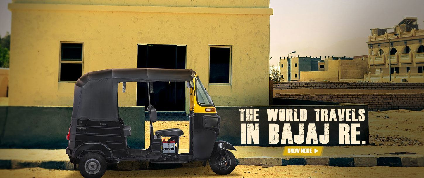 The World Travels in Bajaj RE