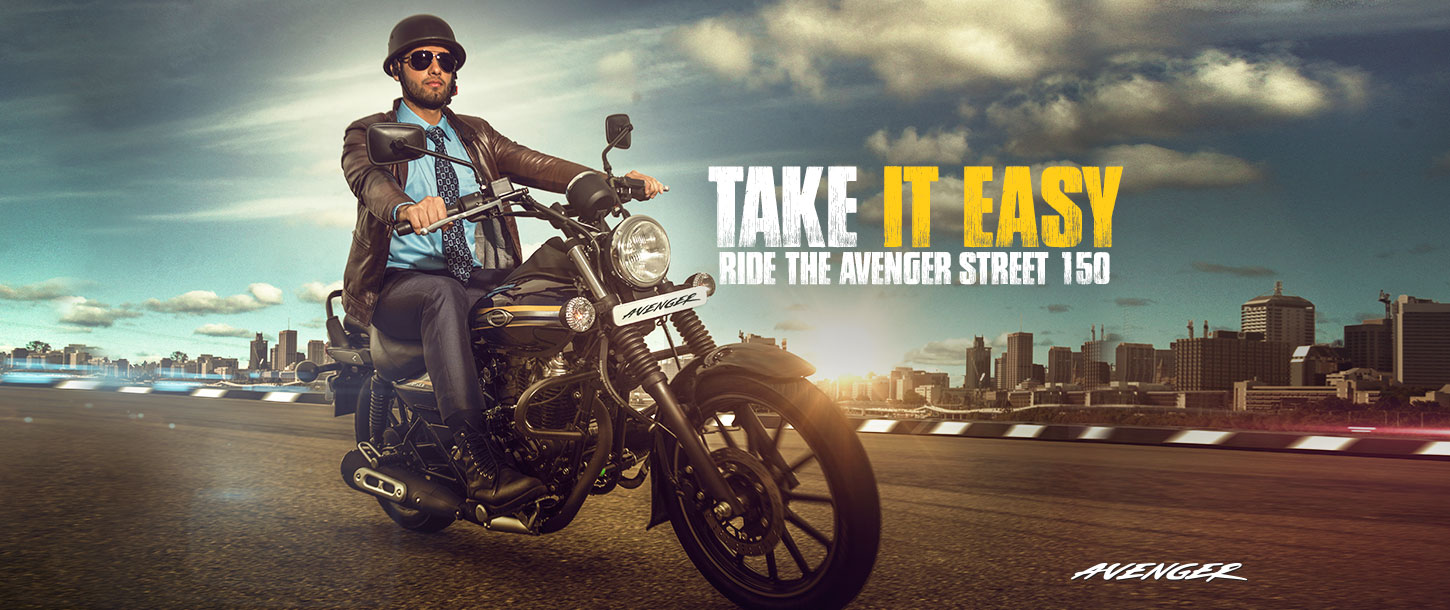 Take It Easy. Ride the Avenger Street 150