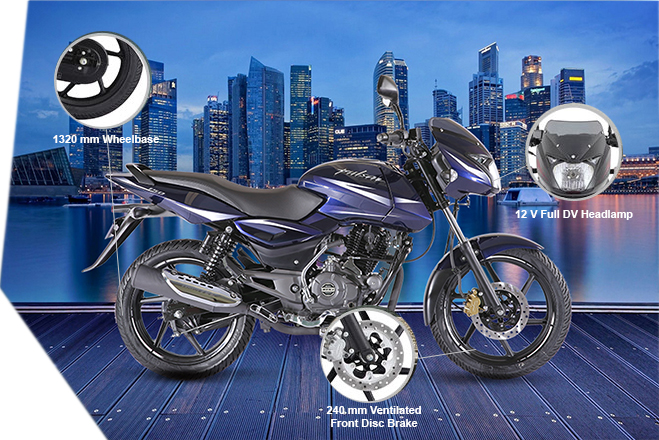 Bajaj Pulsar 150 - Capacity, Power, Engine, Price in Sri