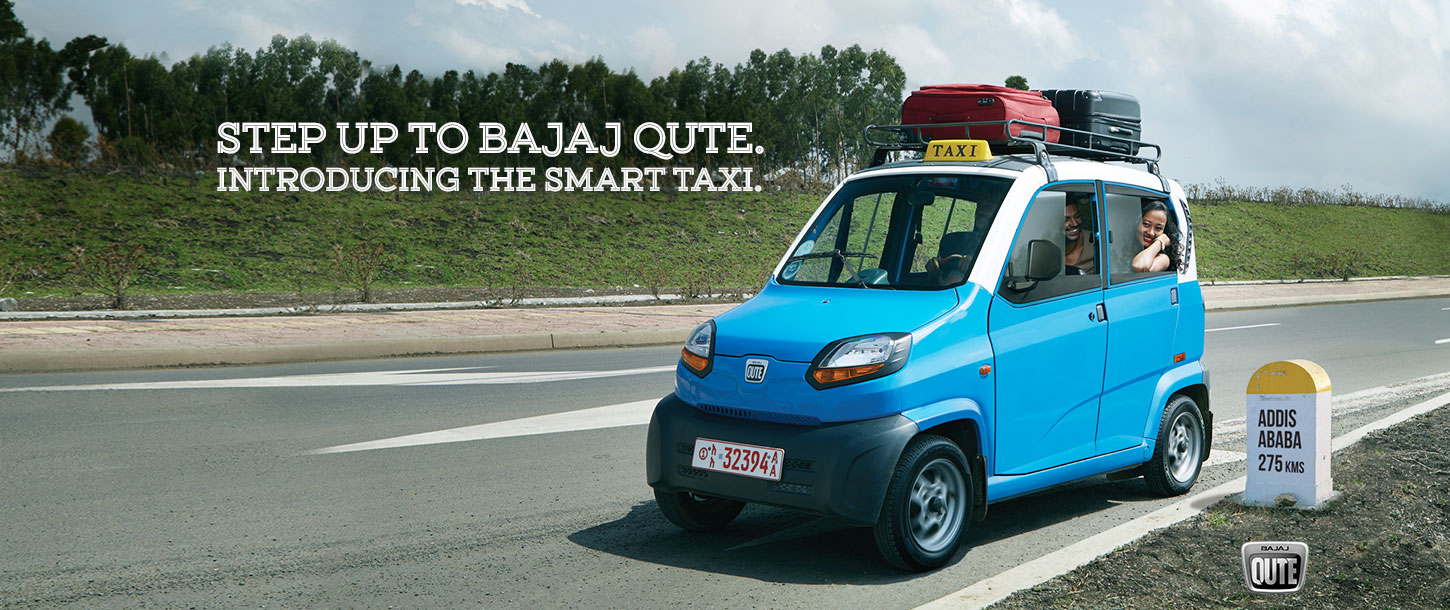 Step Up To Bajaj Qute. Introducing The Smart Taxi.