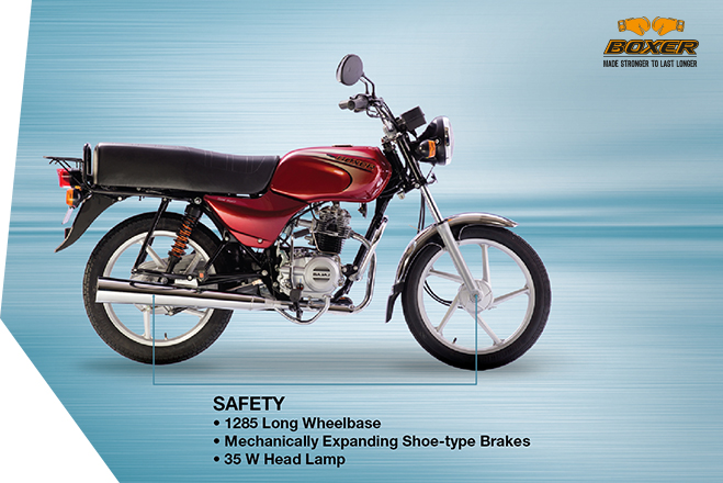 Bajaj Boxer 100 - Safety
